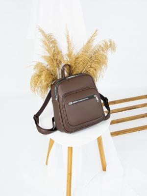 Рюкзак №-4011 коричневый