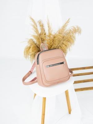 Рюкзак №-4011 пудра