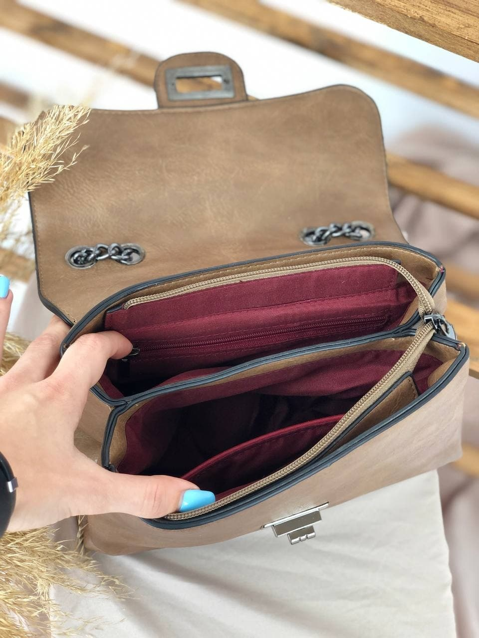 Сумка №-7169 коричневый