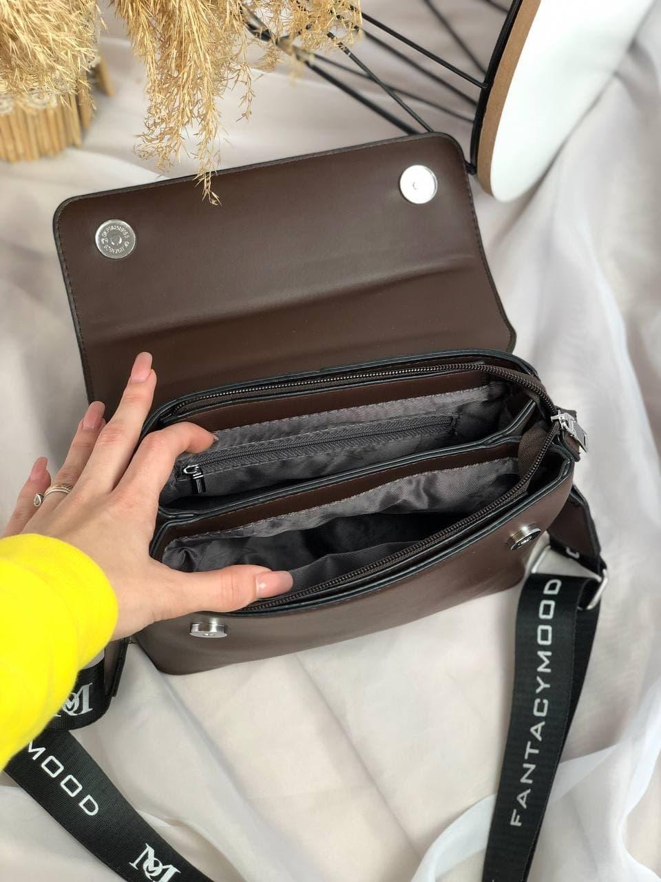 Сумка №-4005 темно-коричневый